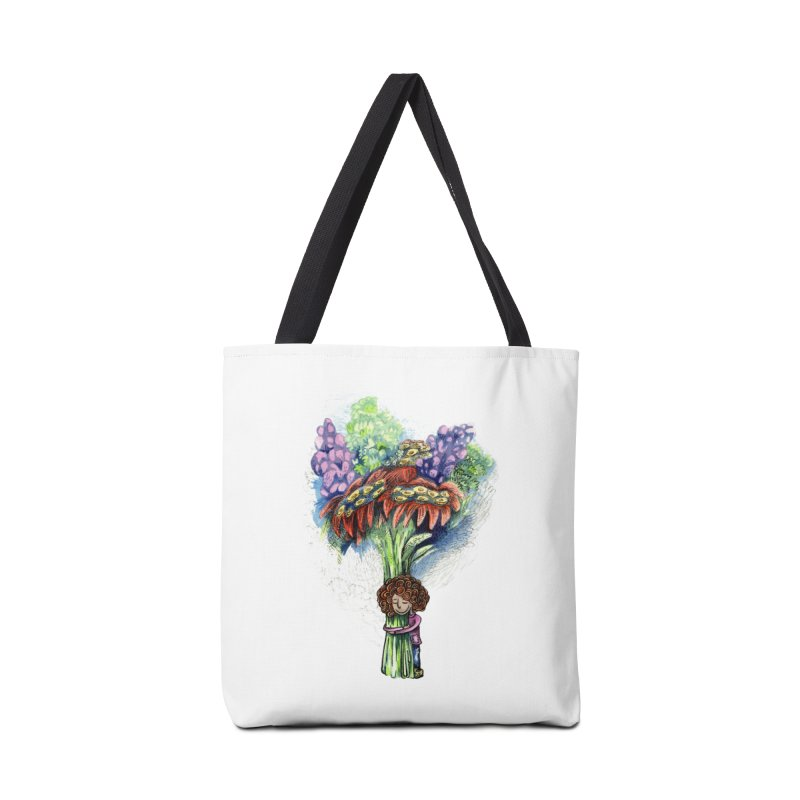 Flower Hug Accessories Bag by alicemdraws's Artist Shop