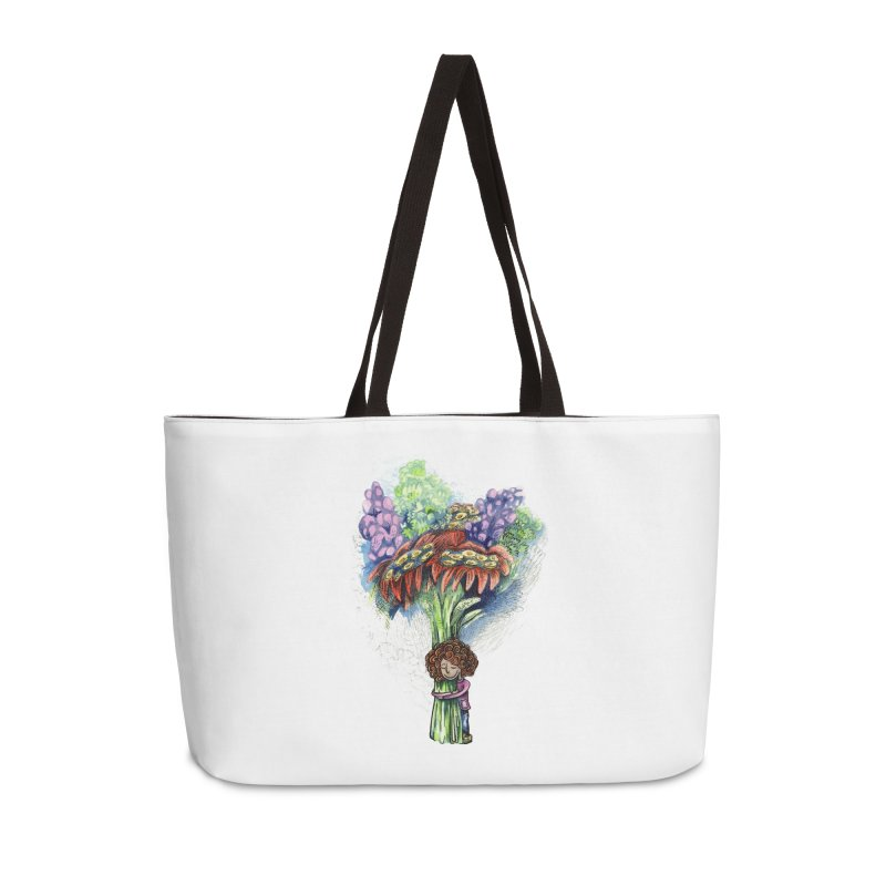 Flower Hug Accessories Weekender Bag Bag by alicemdraws's Artist Shop