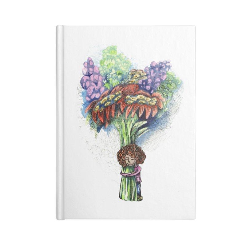 Flower Hug Accessories Blank Journal Notebook by alicemdraws's Artist Shop