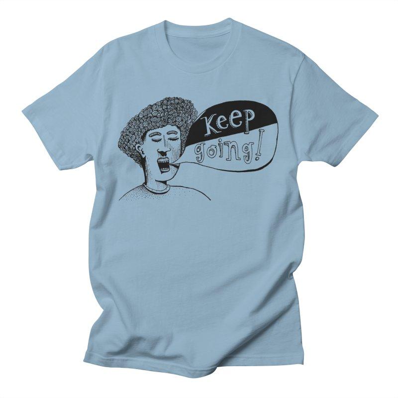 Keep Going Men's Regular T-Shirt by alicemdraws's Artist Shop