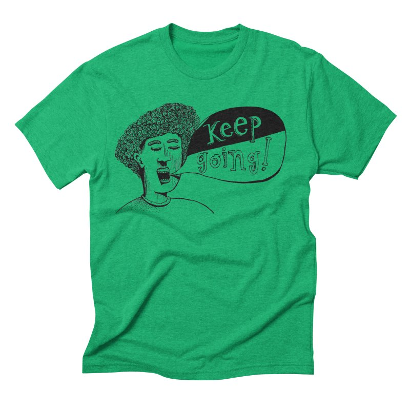 Keep Going Men's Triblend T-Shirt by alicemdraws's Artist Shop