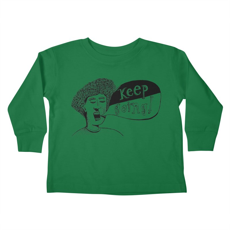 Keep Going Kids Toddler Longsleeve T-Shirt by alicemdraws's Artist Shop