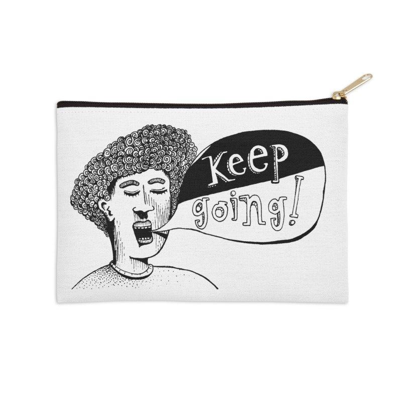 Keep Going Accessories Zip Pouch by alicemdraws's Artist Shop