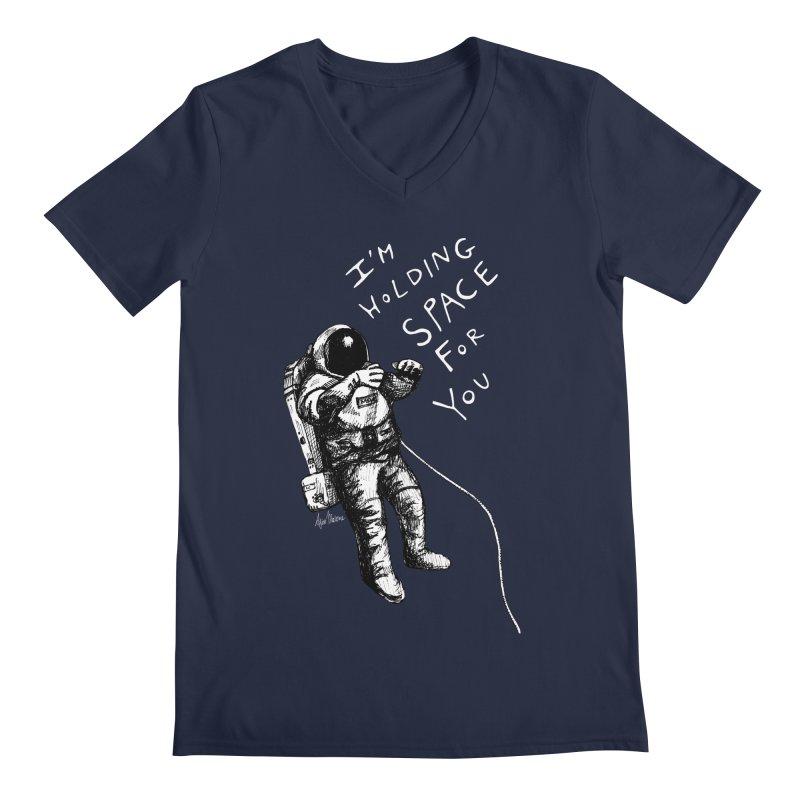 Holding Space Men's Regular V-Neck by alicemdraws's Artist Shop