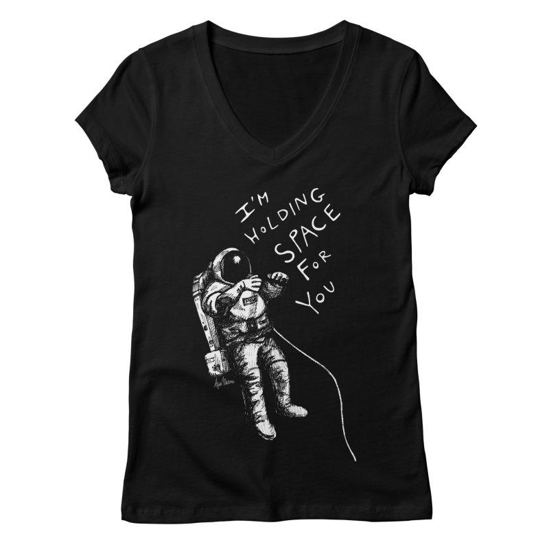 Holding Space Women's Regular V-Neck by alicemdraws's Artist Shop