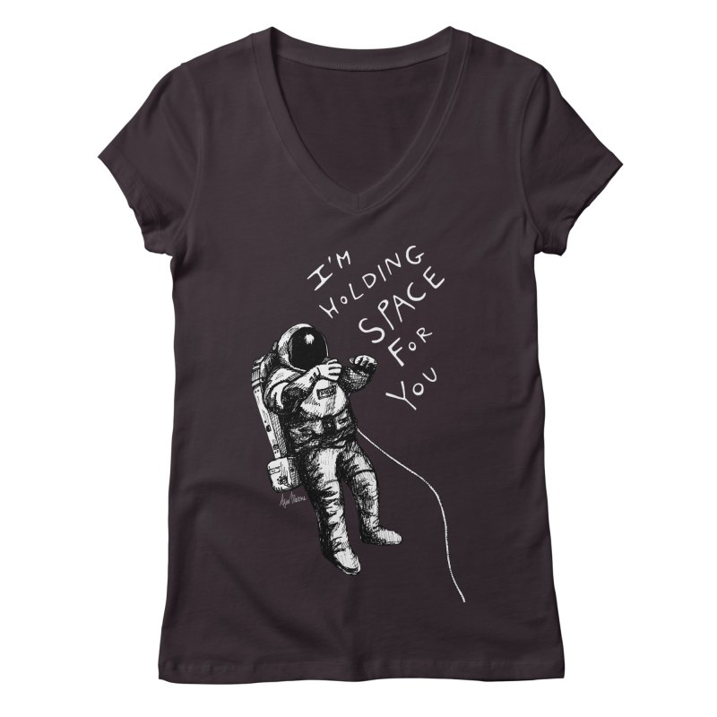 Holding Space Women's Regular V-Neck by alicemdraws's Artist Shop
