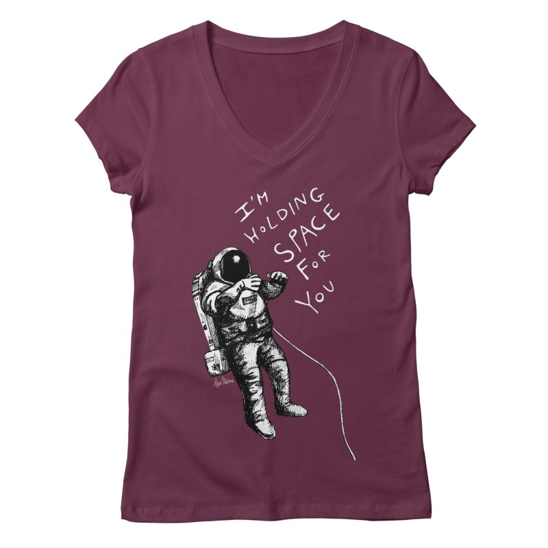 Holding Space Women's V-Neck by alicemdraws's Artist Shop
