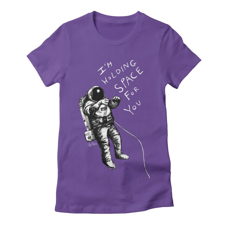 Holding Space Women's Fitted T-Shirt by alicemdraws's Artist Shop