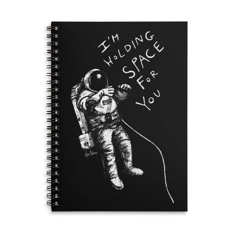 Holding Space Accessories Lined Spiral Notebook by alicemdraws's Artist Shop