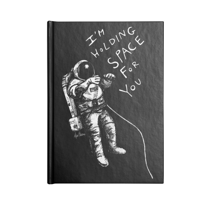 Holding Space Accessories Lined Journal Notebook by alicemdraws's Artist Shop