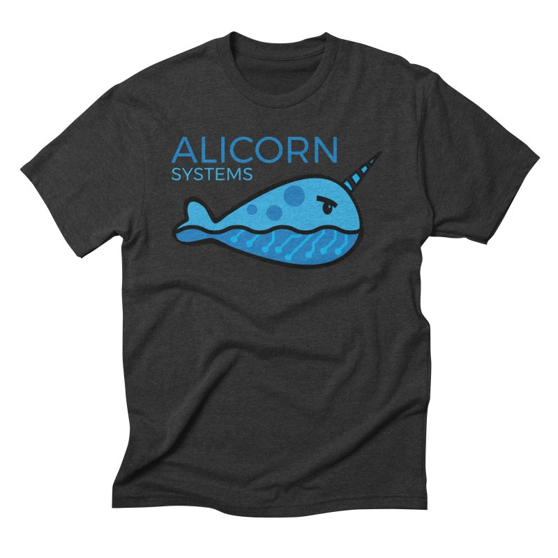 Alicorn Logo in Men's Triblend T-Shirt Heather Onyx by The Alicorn Apparel Shop
