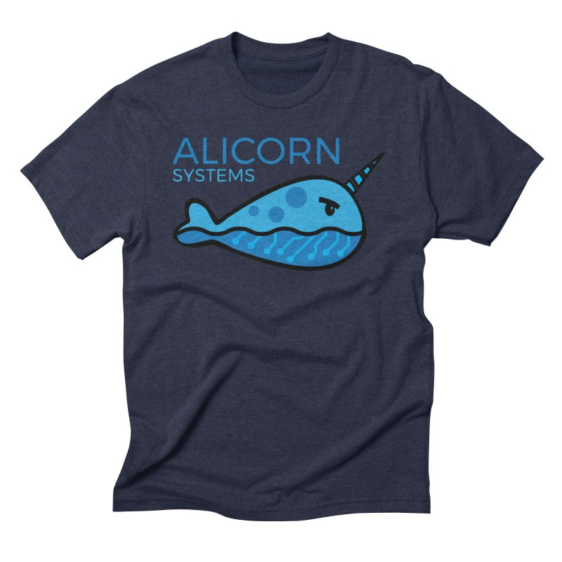 Alicorn Logo in Men's Triblend T-Shirt Navy by The Alicorn Apparel Shop