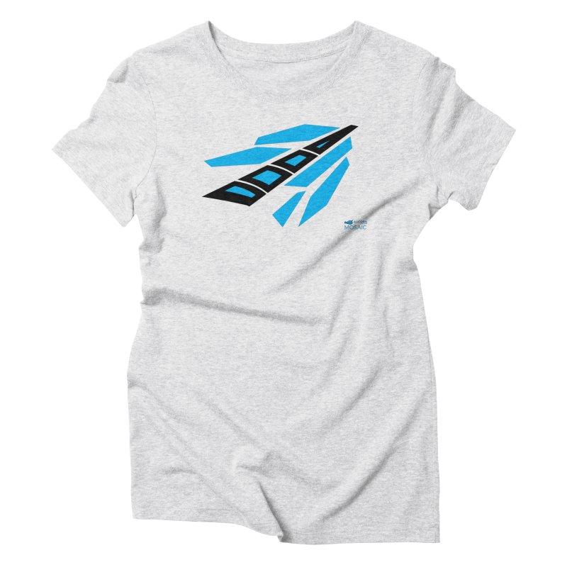 Mosaic Logo Women's Triblend T-shirt by The Alicorn Apparel Shop