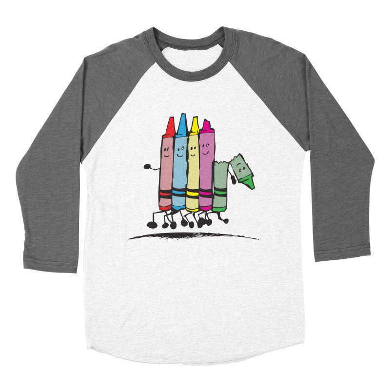 Lean on me Women's Baseball Triblend Longsleeve T-Shirt by alienmuffin's Artist Shop