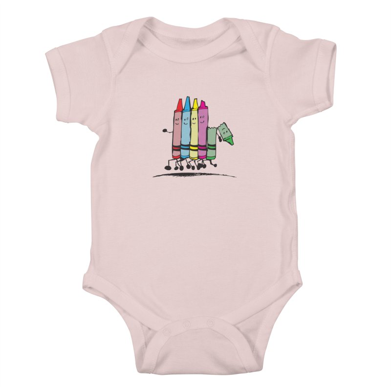 Lean on me Kids Baby Bodysuit by alienmuffin's Artist Shop