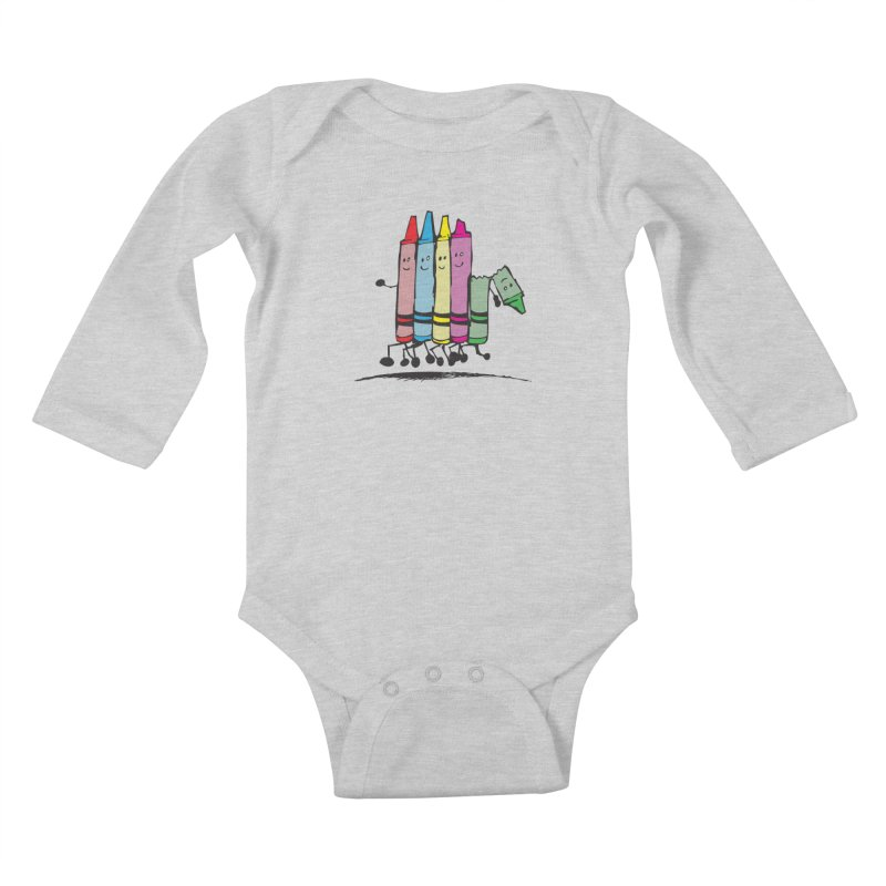 Lean on me Kids Baby Longsleeve Bodysuit by alienmuffin's Artist Shop