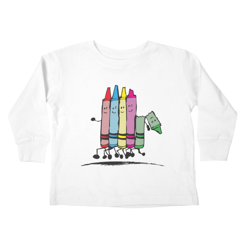 Lean on me Kids Toddler Longsleeve T-Shirt by alienmuffin's Artist Shop