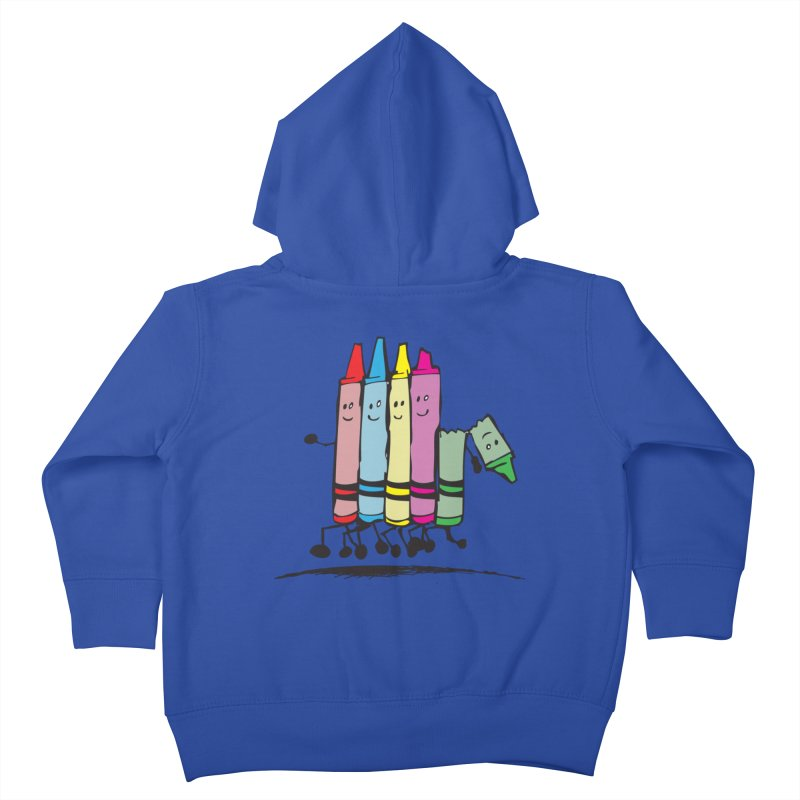 Lean on me Kids Toddler Zip-Up Hoody by alienmuffin's Artist Shop