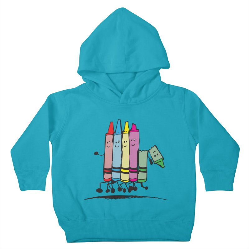 Lean on me Kids Toddler Pullover Hoody by alienmuffin's Artist Shop