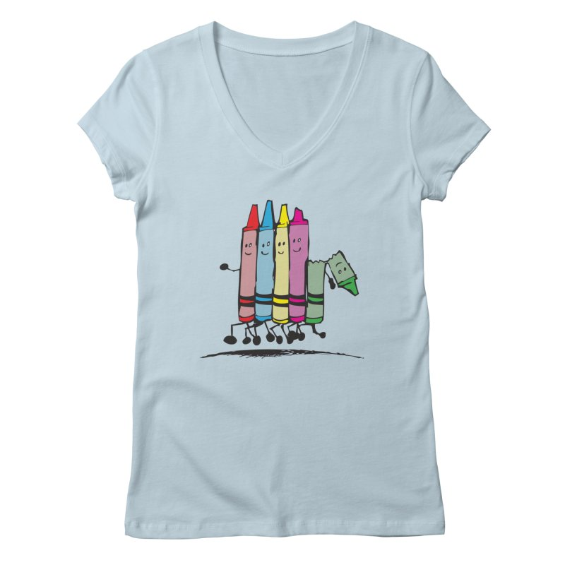Lean on me Women's V-Neck by alienmuffin's Artist Shop