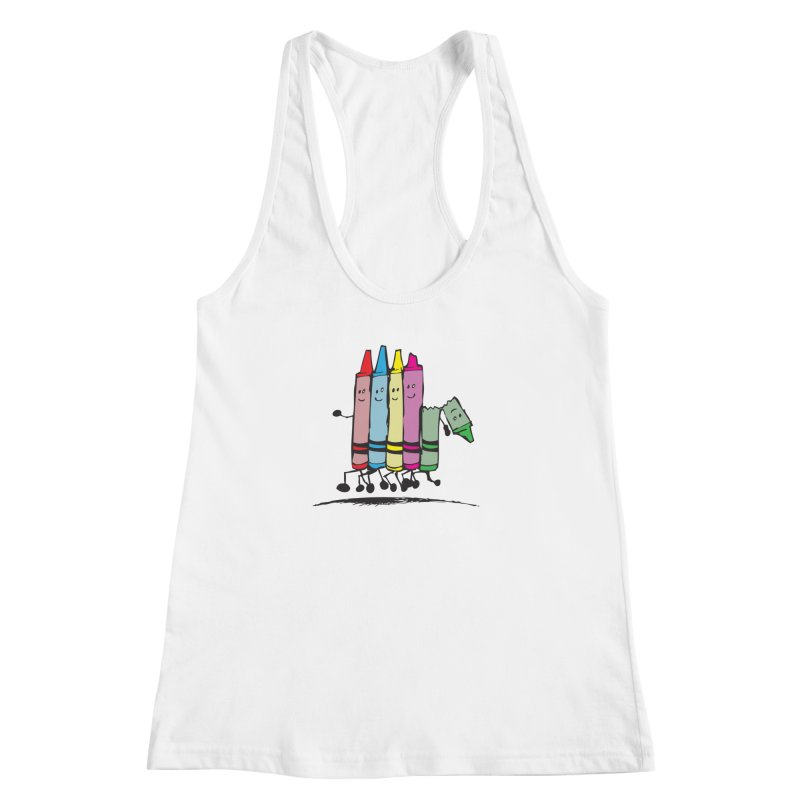Lean on me Women's Racerback Tank by alienmuffin's Artist Shop