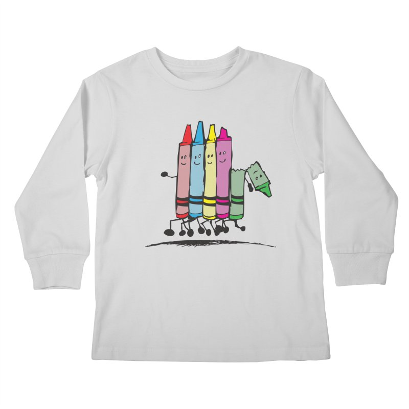 Lean on me Kids Longsleeve T-Shirt by alienmuffin's Artist Shop