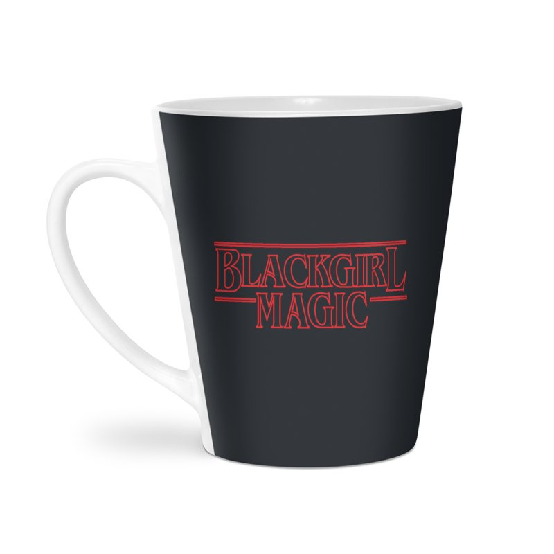 Black Girl Magic Accessories Latte Mug by alienmuffin's Artist Shop