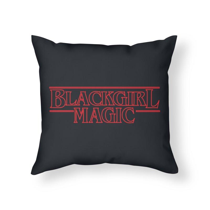 Black Girl Magic Home Throw Pillow by alienmuffin's Artist Shop