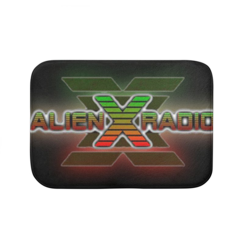 AXR LOGO CURTAIN Home Bath Mat by ALIEN X GEAR