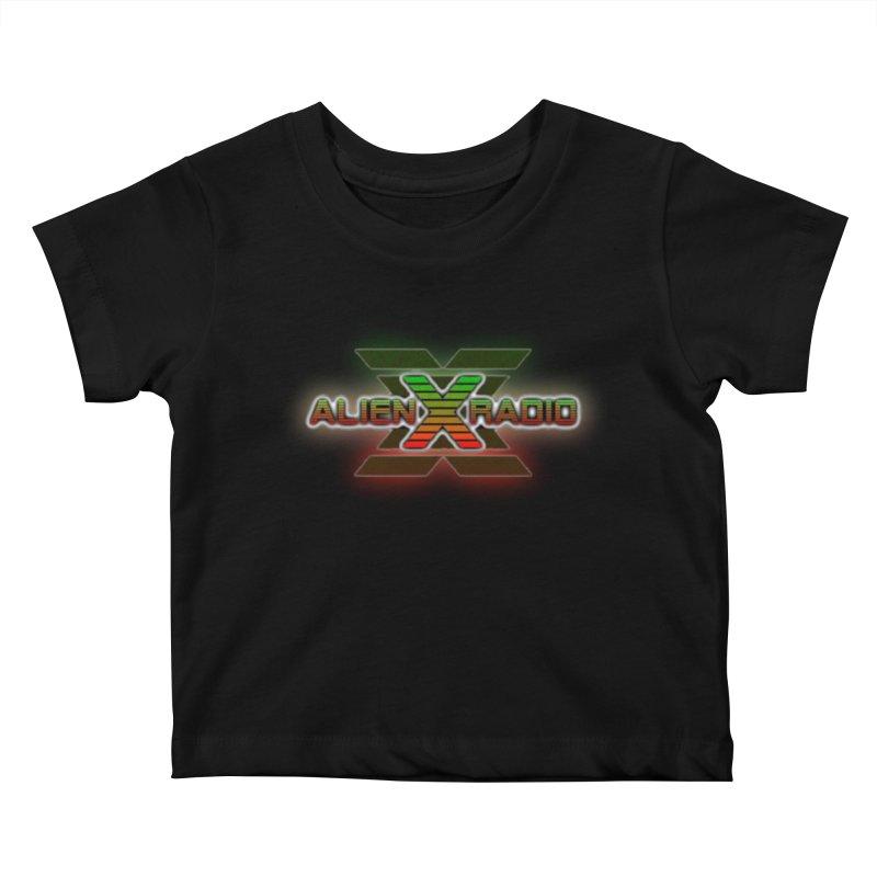 AXR LOGO CURTAIN Kids Baby T-Shirt by ALIEN X GEAR