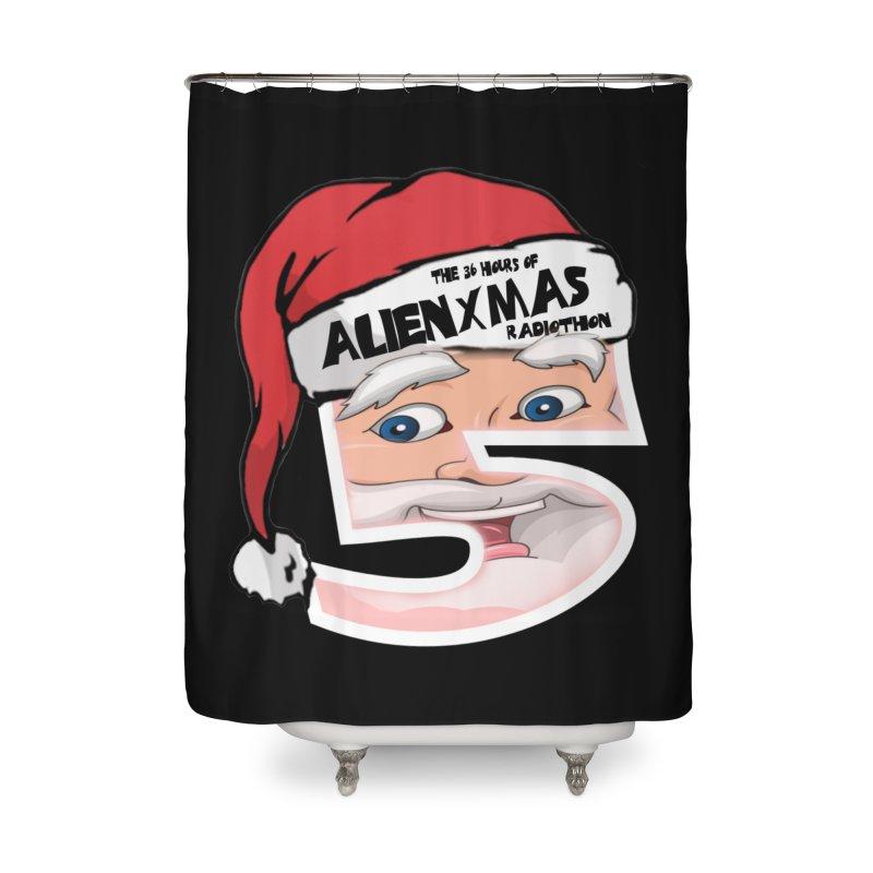 AlienXmas Logo 2019 Home Shower Curtain by ALIEN X GEAR