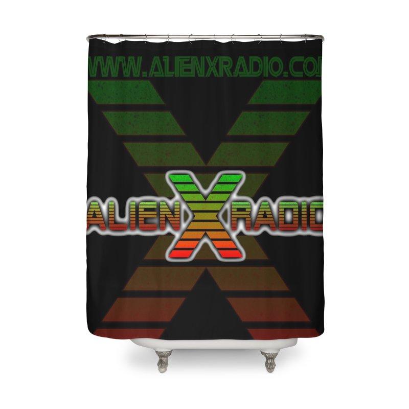 Alien X Radio Home Shower Curtain by ALIEN X GEAR