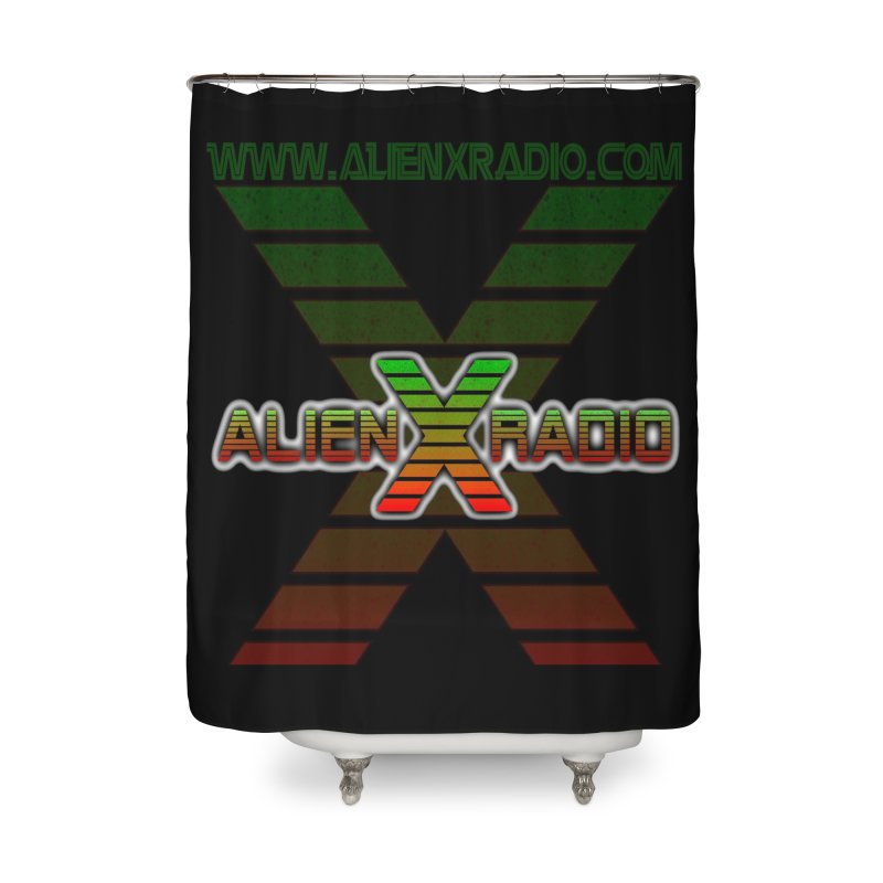 Alien X Radio Home Shower Curtain by ALIEN X GEAR