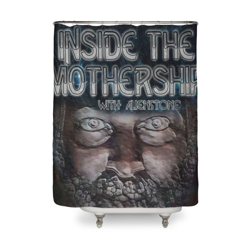 Inside The Mothership Home Shower Curtain by ALIEN X GEAR