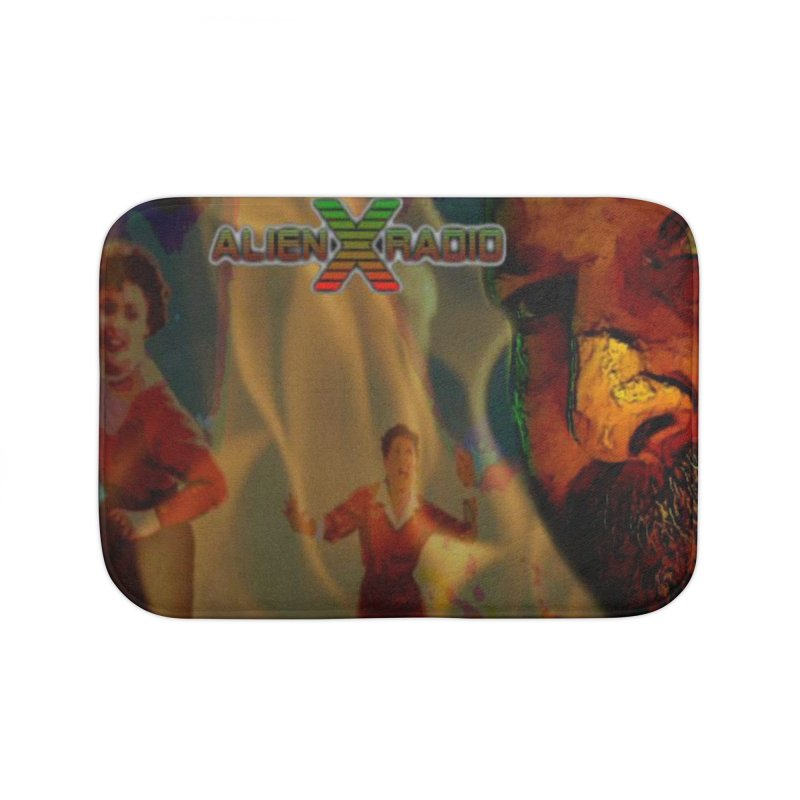 Attack of the Mid-Week Morning Show from Outerspace Home Bath Mat by ALIEN X GEAR