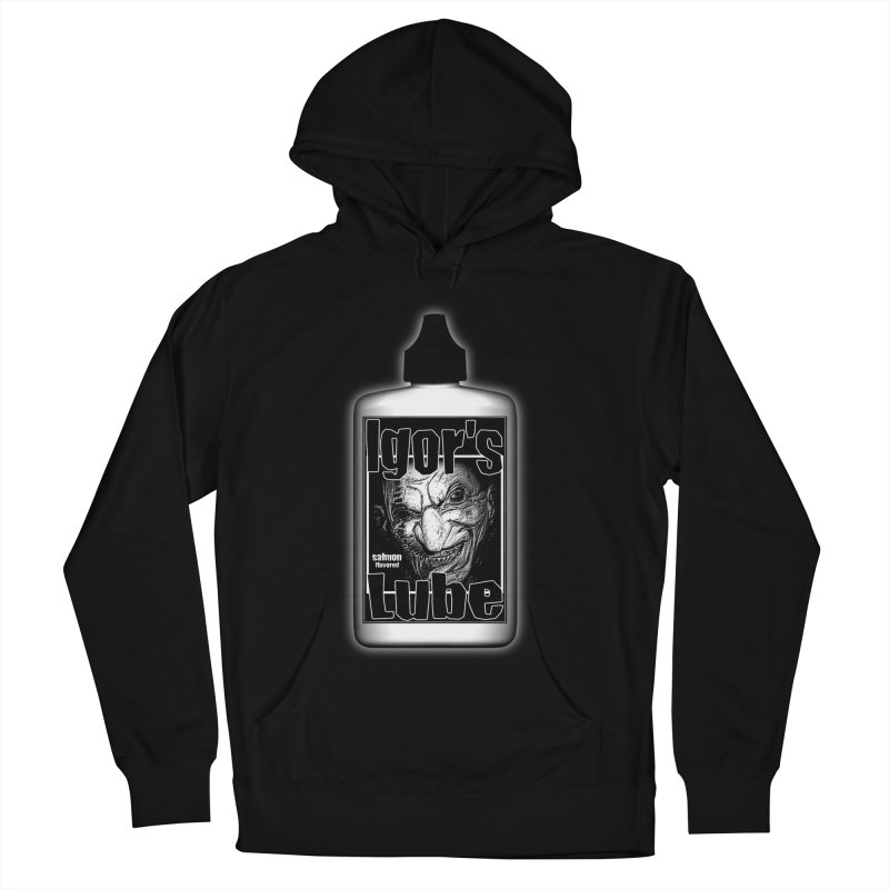 Igors Lube - Salmon Flavored (Black) Men's French Terry Pullover Hoody by ALIEN X GEAR