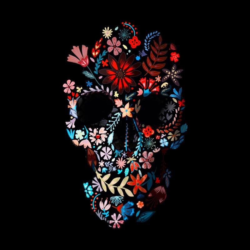 Flowery Skull Men's T-Shirt by Ali Gulec