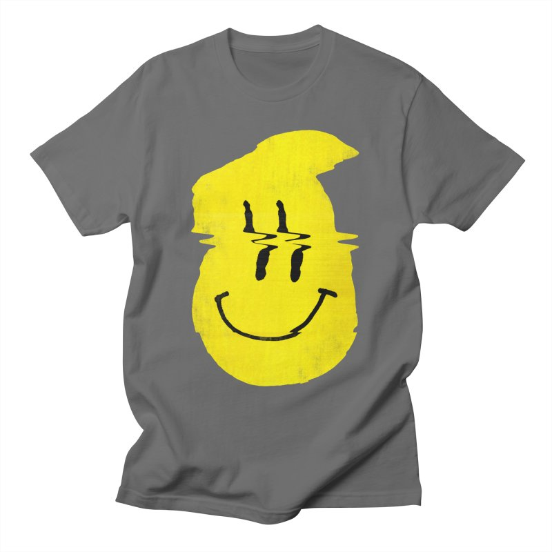 Glitch Smiley Men's T-Shirt by Ali Gulec