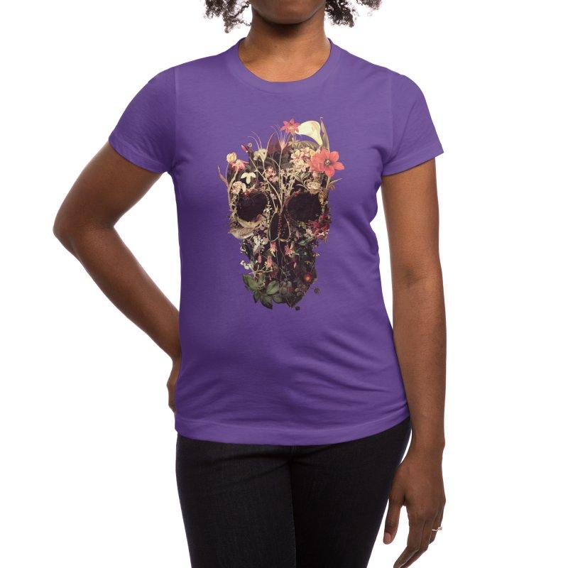 Bloom Skull Women's T-Shirt by Ali Gulec
