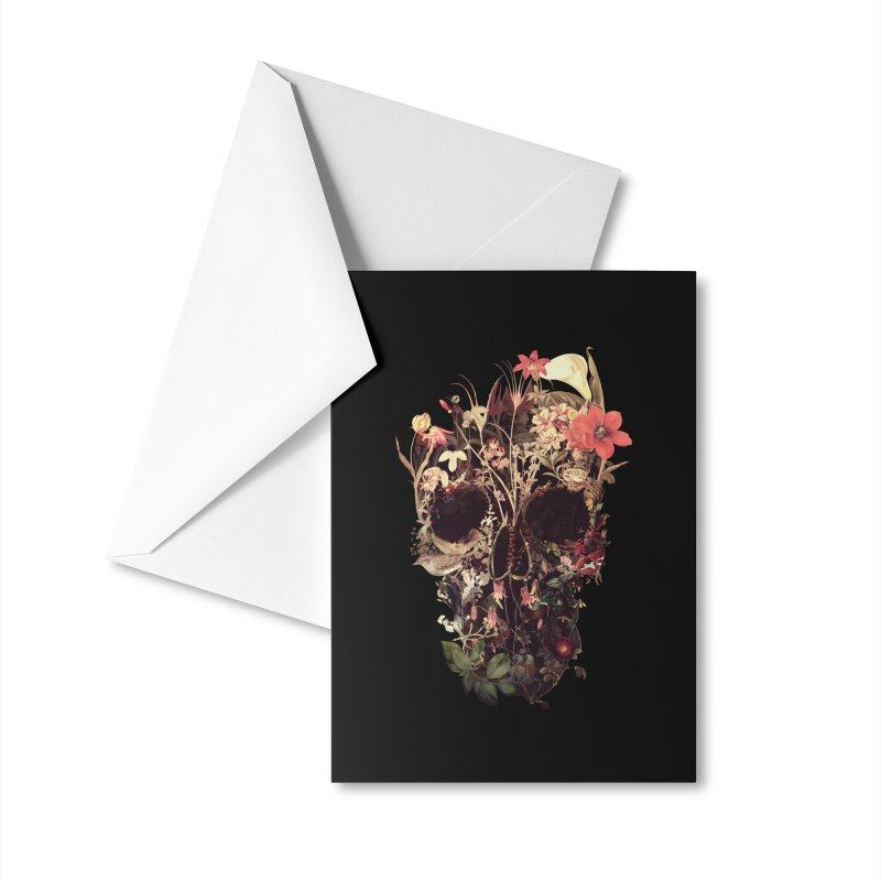 Bloom Skull Accessories Greeting Card by Ali Gulec