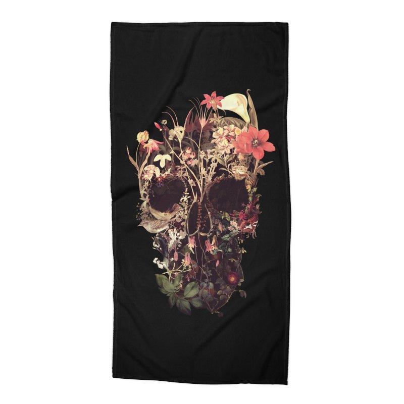 Bloom Skull Accessories Beach Towel by Ali Gulec