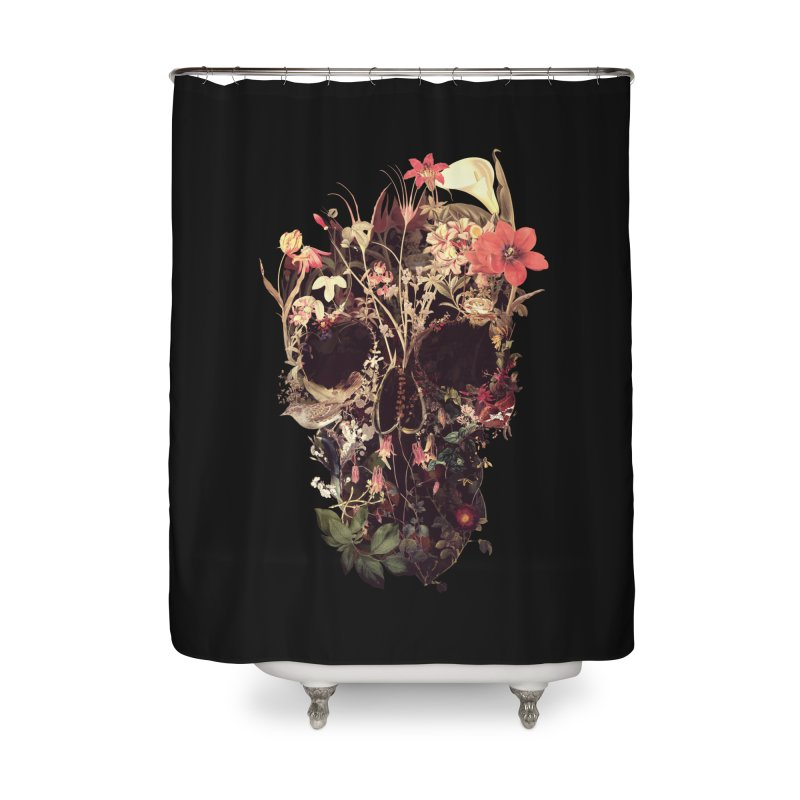 Bloom Skull Home Shower Curtain by Ali Gulec