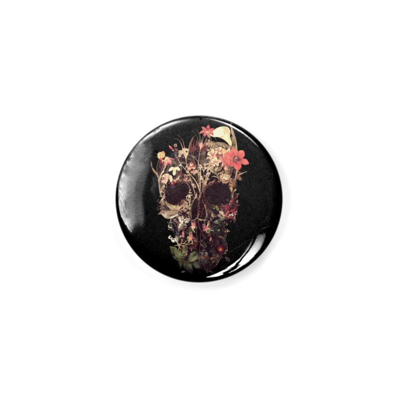 Bloom Skull Accessories Button by Ali Gulec