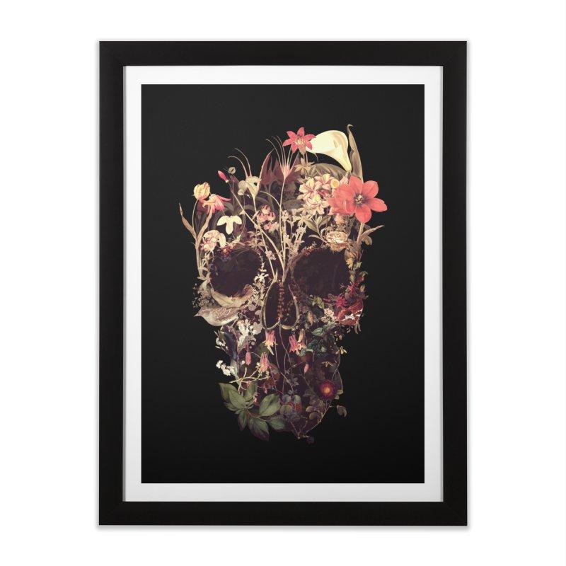 Bloom Skull Home Framed Fine Art Print by Ali Gulec