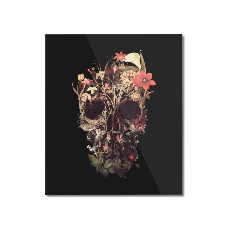 Bloom Skull Home Mounted Acrylic Print by Ali Gulec