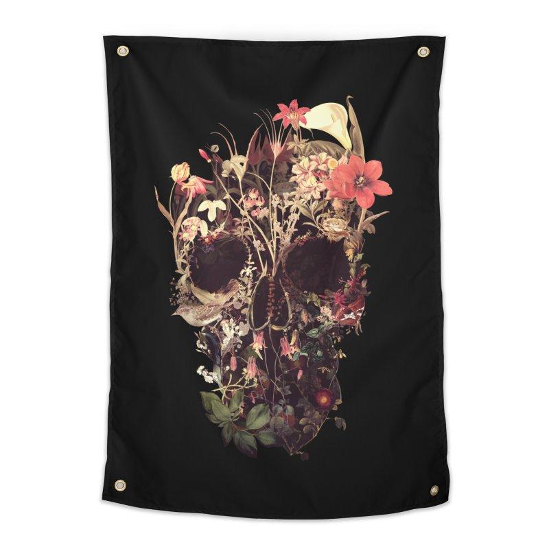 Bloom Skull Home Tapestry by Ali Gulec