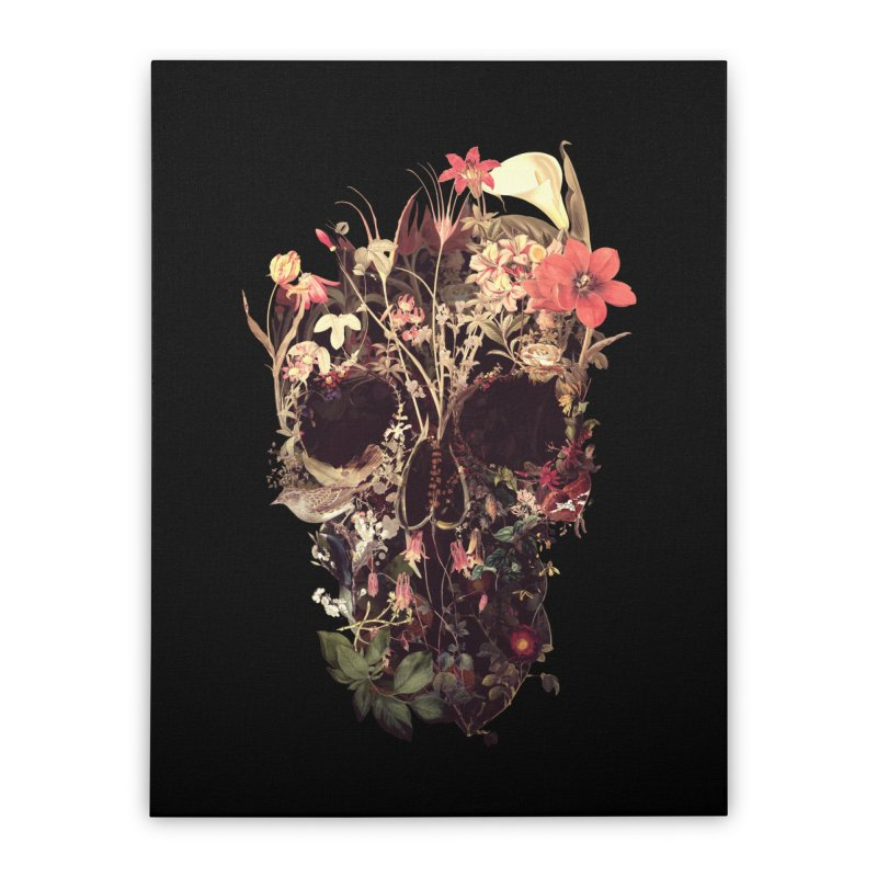 Bloom Skull Home Stretched Canvas by Ali Gulec