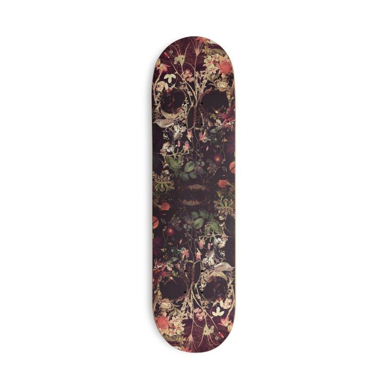 Bloom Skull Accessories Skateboard by Ali Gulec
