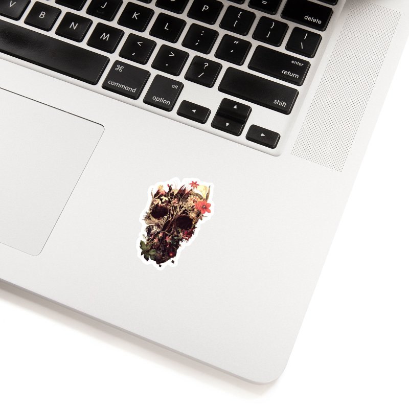 Bloom Skull Accessories Sticker by Ali Gulec
