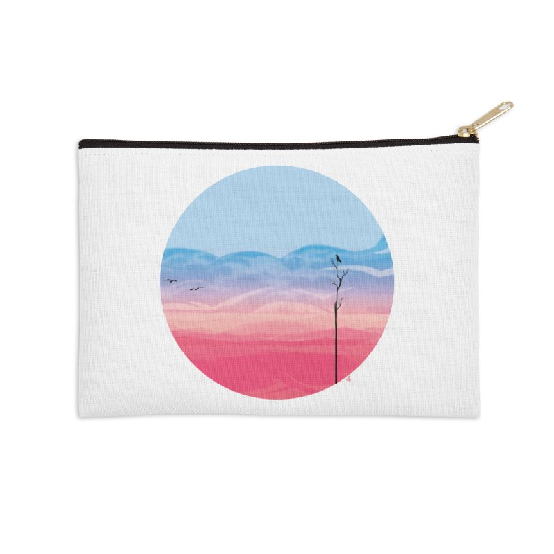 Sunrise-white tote Accessories Zip Pouch by alisa's Artist Shop